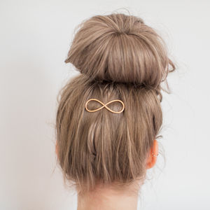 Gold Infinity Hair Clip - combs & hair pins