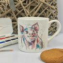 Percival The Piggy, Bone China Mug
