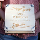 Personalised Teacher Engraved Flower Press