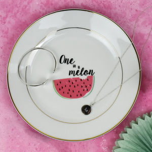 'One In A Melon' Jewellery Trinket Dish - storage & organisers