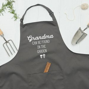 Personalised Can Be Found In The Garden Apron
