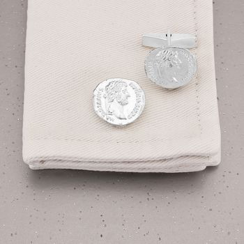 Hadrian Ancient Coin Cufflinks