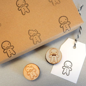 Cookie Cute Gingerbread Man Polymer Stamp Set
