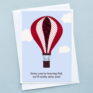 Personalised Leaving Card