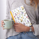 A5 Wild Flower Print Journal 100 Page Notebook