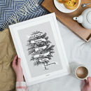 Personalised Vintage Drawing Family Tree