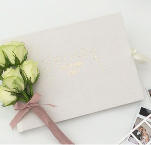 Personalised Ivory Wedding Guest Book - albums & guest books