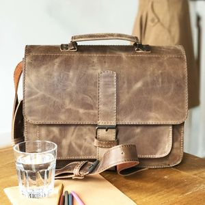 Leather Satchel Handmade In London - summer sale