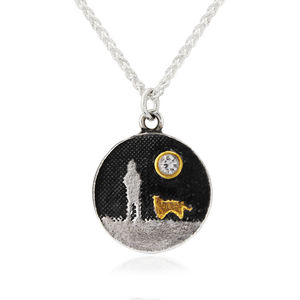 Dog Lovers Diamond Necklace