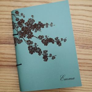 Personalised Leather Books Japanese Blossom - notebooks & journals