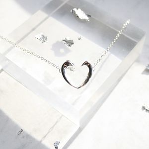 'You Have My Heart' Silver Neckace