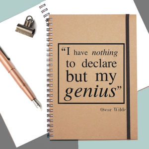 Oscar Wilde Genius Notebook