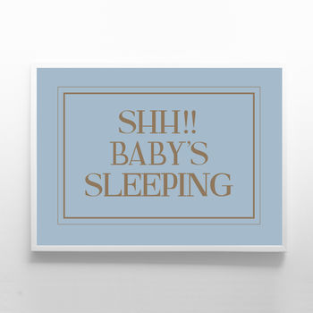 Print Sign Plaque For Baby's Room