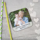 Personalised Photograph And Message Wooden Coaster