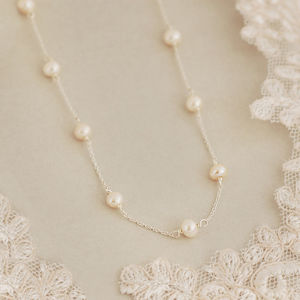 Delicate Sterling Silver And Pearl Necklace