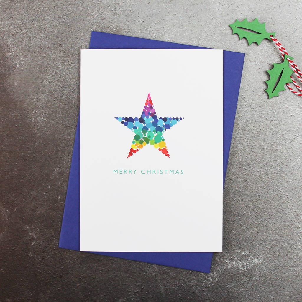 free ecard christmas party invitations%0A Bright Modern Christmas Star Cards