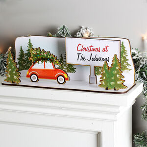 'Christmas At The…' Custom Wooden Christmas Scene