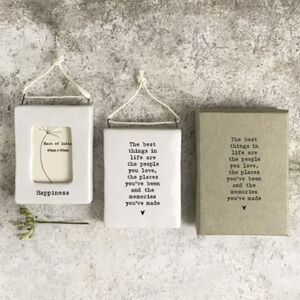 Best Things, Happiness Mini Hanging Frame