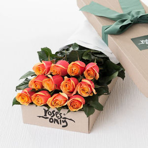 Cherry Brandy Rose Gift Bouquet - 1st anniversary: paper