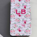 Personalised Vintage Floral Flip Phone Case