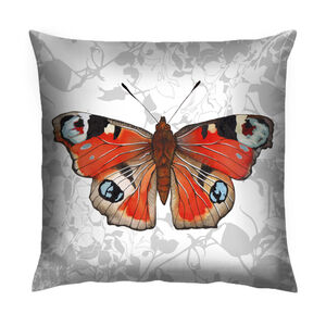 Peacock Butterfly Botanical Cushion