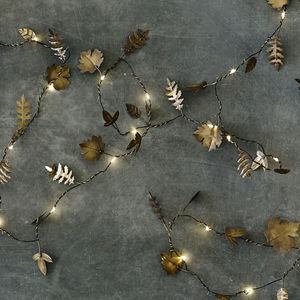 Twinkle Leaf Garland - fairy lights & string lights