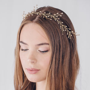 Botanical Tiara Hairvine Rosemary - bridal hairpieces