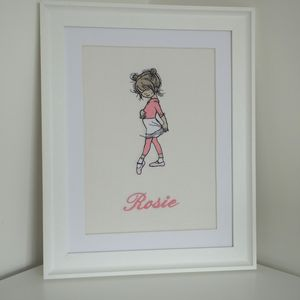 Personalised Embroidered Picture Of A Young Dancer
