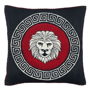 Hand Embroidered Leo Zodiac Cushion