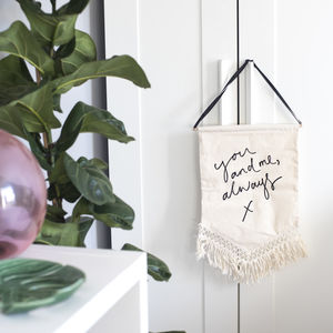 'You And Me, Always' Macrame Trim Banner - gifts for the groom