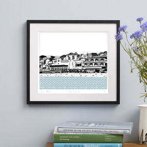 Cornwall St Ives Screen Print