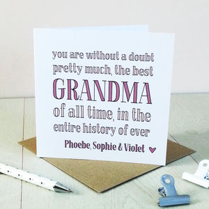 Best Grandma Ever, Personalised Card - shop by category