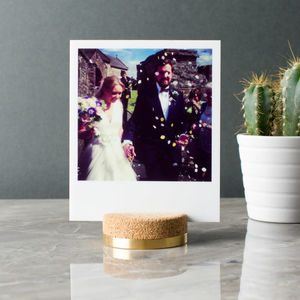 Luxury Brass Cork Photo Stand - picture frames