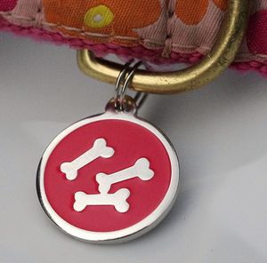 Personalised Dog Id Bone Tag - clothes