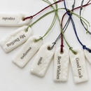 Porcelain Message Tag