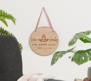 Personalised Wooden New Home Plaque
