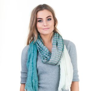 Charlie Striped Patterned Scarf - scarves