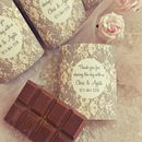 Personalised Wedding Favours Chocolate And Wrappers