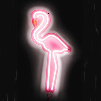 Neon Pink Flamingo Light