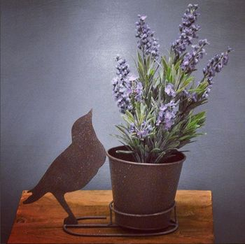 Decorative Silhouette Bird Plant Pot