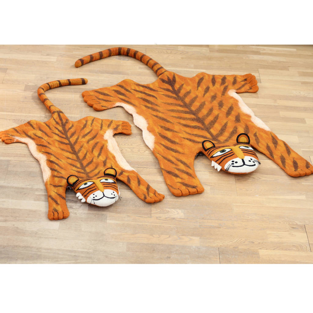Full Size Tiger Rug By Sew Heart Felt