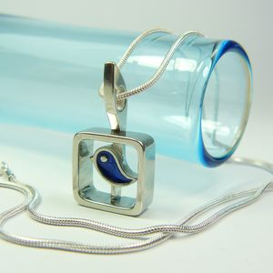 Blue Bird Pendant Necklace - necklaces & pendants