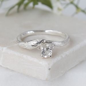 Silver Willow Twig Ring, Silver Engagement Ring - engagement rings