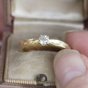 Tinkerbell 18ct Gold Diamond Engagement Ring - birthstone jewellery gifts