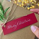 Calligraphy Merry Christmas Gift Tag