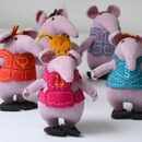 Hand Knitted Clangers Soft Toys