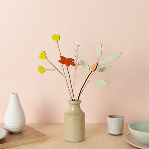 Decorative Wooden Flowers Buttercup And Sage Set - home accessories