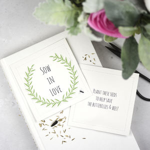 Wildflower Seed Wedding Favor Packets 'Sow In Love' - summer sale