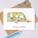 Personalised Map Caravan Birthday Card