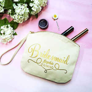 Personalised Bridal Party Clutch Bag - purses